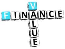 3D Finance Value Crossword Royalty Free Stock Photo