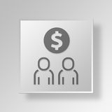 3D finances Button Icon Concept. 3D Symbol Gray Square finances Button Icon Concept Stock Image