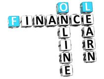 3D finances Oline Learn Crossword photographie stock