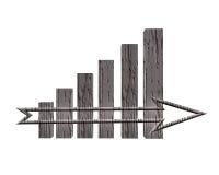 3D Financiële Grafiek Stock Foto