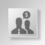 3D Financial Advisors Button Icon Concept. 3D Symbol Gray Square Financial Advisors Button Icon Concept Stock Image
