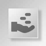 3D financial Button Icon Concept Royalty Free Stock Images