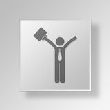 3D Financial Freedom Button Icon Concept. 3D Symbol Gray Square Financial Freedom Button Icon Concept Royalty Free Stock Images