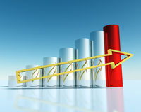 3D Financial Graph. Successful business Royalty Free Stock Photo