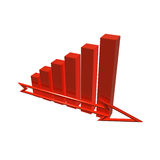 3D Financial Graph Royalty Free Stock Photography