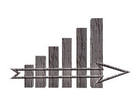 3D Financial Graph. Successful business Stock Photo
