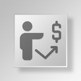 3D financial growth icon Business Concept. 3D Symbol Gray Square financial growth icon Business Concept Stock Images