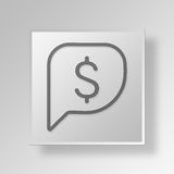 3D financial negotiation icon Business Concept. 3D Symbol Gray Square financial negotiation icon Business Concept Stock Photo