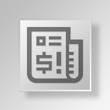 3D Financial News icon Business Concept. 3D Symbol Gray Square Financial News icon Business Concept Stock Photo