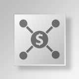 3D Financial plan Button Icon Concept. 3D Symbol Gray Square Financial plan Button Icon Concept Stock Images