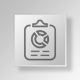 3D financial report icon Business Concept. 3D Symbol Gray Square financial report icon Business Concept Stock Photo