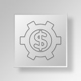 3D Financial Settings Button Icon Concept Royalty Free Stock Photo