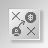 3D financial strategy Button Icon Concept. 3D Symbol Gray Square financial strategy Button Icon Concept Stock Image