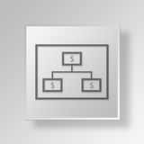 3D financial strategy Button Icon Concept. 3D Symbol Gray Square financial strategy Button Icon Concept Royalty Free Stock Photography