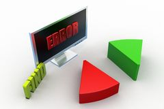 3d find error concept Royalty Free Stock Images