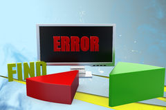 3d find error illustration Royalty Free Stock Photos