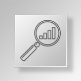 3D Find Growth icon Business Concept Royalty Free Stock Photos