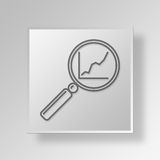 3D Find Growth icon Business Concept Royalty Free Stock Photo