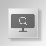3D Find Local Business Button Icon Concept. 3D Symbol Gray Square Find Local Business Button Icon Concept Stock Photos