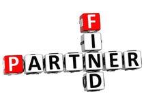 3D Find Partener Crossword Stock Image