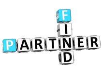 3D Find Partener Crossword Stock Photo