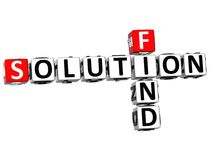 3D Find Solution Crossword. On white background Stock Images