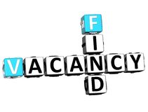 3D Find Vacancy Crossword. On white background Stock Photography