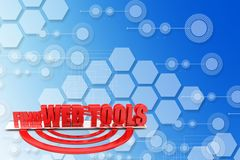 3D Find Web Tools illustration Royalty Free Stock Images