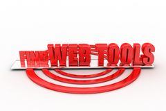 3D Find Web Tools Royalty Free Stock Image