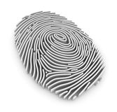 3d Fingerprint Royalty Free Stock Photo