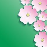 3d fiori, fondo floreale astratto Fotografia Stock Libera da Diritti