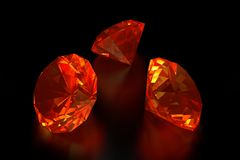 3D Fire Diamonds Royalty Free Stock Image