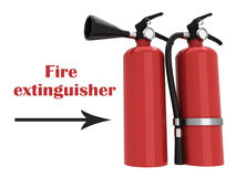 3D Fire extinguisher. On a white background Stock Photos