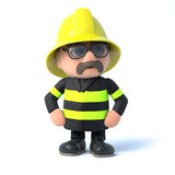 3d Fireman strikes a pose Royalty Free Stock Images