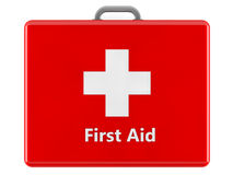 3d first aid box. 3d red first aid box Stock Photo