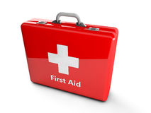 3d first aid box. 3d red first aid box Royalty Free Stock Image