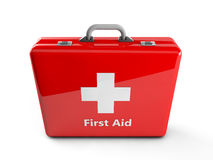 3d first aid box. 3d red first aid box Royalty Free Stock Photography