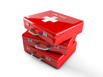3d first aid box. 3d red first aid box Stock Images