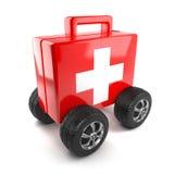 3d First aid on wheels Stock Photos