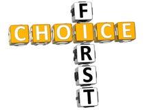 3D First Choice Crossword Fotografia Stock