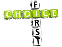3D First Choice Crossword Zdjęcia Stock
