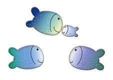 d fishs trzy ilustracja wektor