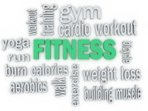 3d  Fitness and Healthy Exercise Stock Images