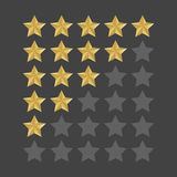 3D five stars rating icon set.  quality rate status level for web or app. Vector illustration Royalty Free Stock Photography