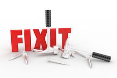 3d fix it Stock Photo
