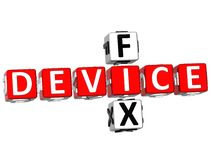 3D Fix Device Crossword Royalty Free Stock Images