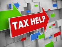 3d flèche mobile - aide d'impôts Photographie stock