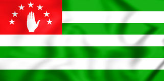 3D Flag of the Abkhazia. Royalty Free Stock Photography