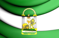 3D Flag of Andalusia, Spain. Stock Images