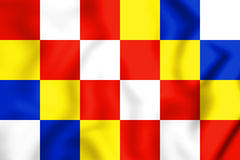 3D Flag of Antwerp Province, Belgium. Stock Photo
